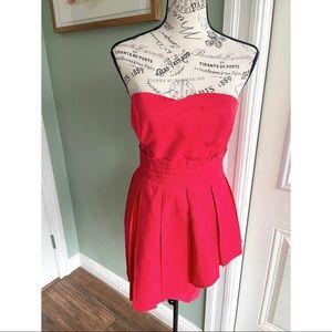 EUC Alice By Temperley Red Ruffled Mini Dress